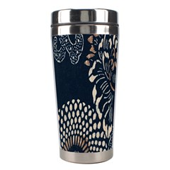Patterns Dark Shape Surface Stainless Steel Travel Tumblers by Simbadda