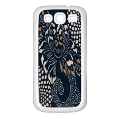 Patterns Dark Shape Surface Samsung Galaxy S3 Back Case (white) by Simbadda