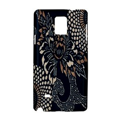 Patterns Dark Shape Surface Samsung Galaxy Note 4 Hardshell Case by Simbadda