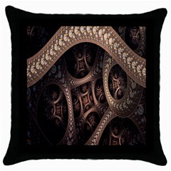 Patterns Dive Background Throw Pillow Case (black) by Simbadda