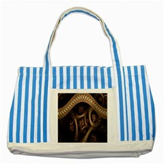 Patterns Dive Background Striped Blue Tote Bag by Simbadda