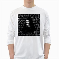 Count Vlad Dracula White Long Sleeve T Shirts