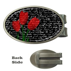 Red Tulips Money Clips (oval)