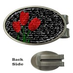 Red tulips Money Clips (Oval)  Front