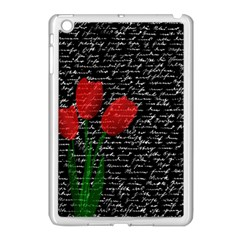 Red Tulips Apple Ipad Mini Case (white) by Valentinaart