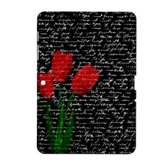 Red Tulips Samsung Galaxy Tab 2 (10 1 ) P5100 Hardshell Case  by Valentinaart