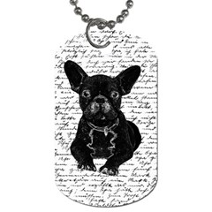 Cute Bulldog Dog Tag (one Side) by Valentinaart
