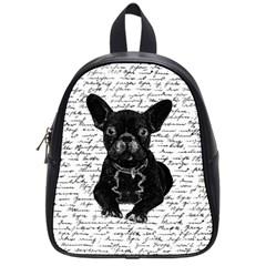 Cute Bulldog School Bags (small)  by Valentinaart