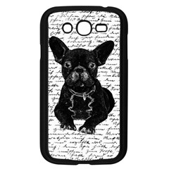 Cute Bulldog Samsung Galaxy Grand Duos I9082 Case (black) by Valentinaart
