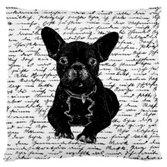 Cute Bulldog Standard Flano Cushion Case (one Side) by Valentinaart