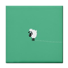Sheep Trails Curly Minimalism Tile Coasters