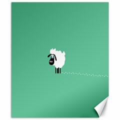 Sheep Trails Curly Minimalism Canvas 8  X 10  by Simbadda