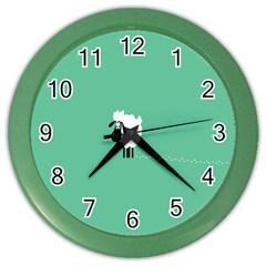 Sheep Trails Curly Minimalism Color Wall Clocks by Simbadda