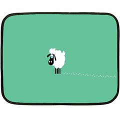 Sheep Trails Curly Minimalism Double Sided Fleece Blanket (mini)  by Simbadda