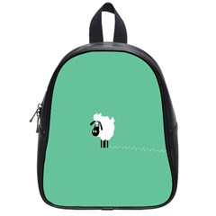 Sheep Trails Curly Minimalism School Bags (small)  by Simbadda