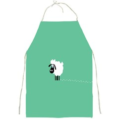 Sheep Trails Curly Minimalism Full Print Aprons by Simbadda