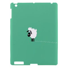 Sheep Trails Curly Minimalism Apple Ipad 3/4 Hardshell Case by Simbadda