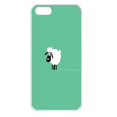 Sheep Trails Curly Minimalism Apple Iphone 5 Seamless Case (white) by Simbadda