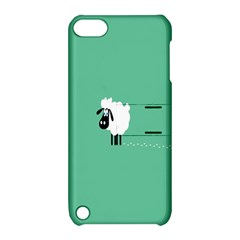 Sheep Trails Curly Minimalism Apple Ipod Touch 5 Hardshell Case With Stand by Simbadda