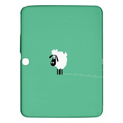 Sheep Trails Curly Minimalism Samsung Galaxy Tab 3 (10 1 ) P5200 Hardshell Case  by Simbadda