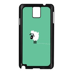 Sheep Trails Curly Minimalism Samsung Galaxy Note 3 N9005 Case (black) by Simbadda
