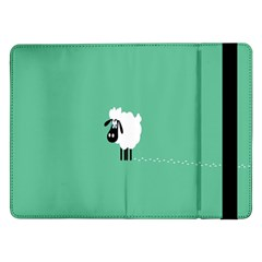 Sheep Trails Curly Minimalism Samsung Galaxy Tab Pro 12 2  Flip Case by Simbadda