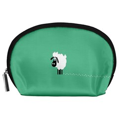 Sheep Trails Curly Minimalism Accessory Pouches (large)  by Simbadda