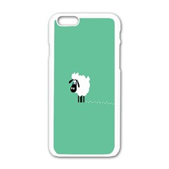 Sheep Trails Curly Minimalism Apple Iphone 6/6s White Enamel Case by Simbadda