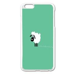 Sheep Trails Curly Minimalism Apple Iphone 6 Plus/6s Plus Enamel White Case by Simbadda