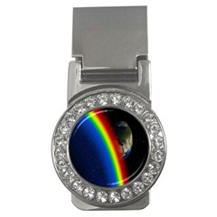 Rainbow Earth Outer Space Fantasy Carmen Image Money Clips (cz)  by Simbadda