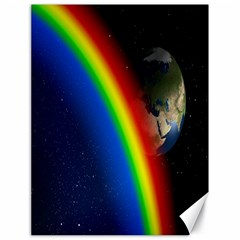 Rainbow Earth Outer Space Fantasy Carmen Image Canvas 18  X 24   by Simbadda