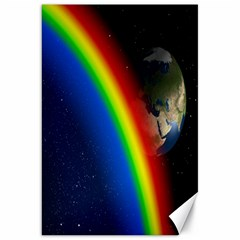 Rainbow Earth Outer Space Fantasy Carmen Image Canvas 20  X 30   by Simbadda