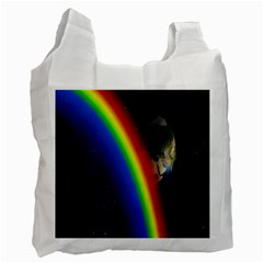 Rainbow Earth Outer Space Fantasy Carmen Image Recycle Bag (one Side) by Simbadda