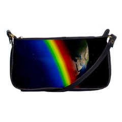 Rainbow Earth Outer Space Fantasy Carmen Image Shoulder Clutch Bags by Simbadda