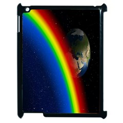 Rainbow Earth Outer Space Fantasy Carmen Image Apple Ipad 2 Case (black) by Simbadda