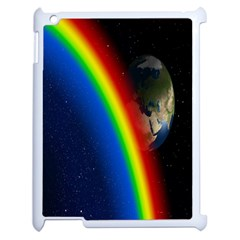 Rainbow Earth Outer Space Fantasy Carmen Image Apple Ipad 2 Case (white) by Simbadda