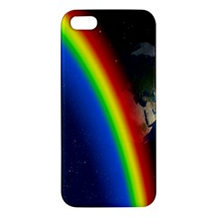 Rainbow Earth Outer Space Fantasy Carmen Image Apple Iphone 5 Premium Hardshell Case by Simbadda
