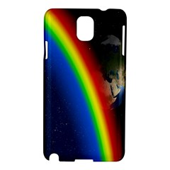 Rainbow Earth Outer Space Fantasy Carmen Image Samsung Galaxy Note 3 N9005 Hardshell Case by Simbadda