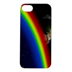 Rainbow Earth Outer Space Fantasy Carmen Image Apple Iphone 5s/ Se Hardshell Case by Simbadda