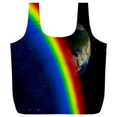 Rainbow Earth Outer Space Fantasy Carmen Image Full Print Recycle Bags (l)  by Simbadda