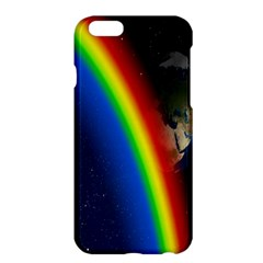 Rainbow Earth Outer Space Fantasy Carmen Image Apple Iphone 6 Plus/6s Plus Hardshell Case by Simbadda