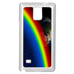 Rainbow Earth Outer Space Fantasy Carmen Image Samsung Galaxy Note 4 Case (white) by Simbadda