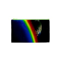 Rainbow Earth Outer Space Fantasy Carmen Image Cosmetic Bag (xs)