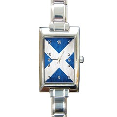 Scotland Flag Surface Texture Color Symbolism Rectangle Italian Charm Watch