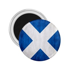 Scotland Flag Surface Texture Color Symbolism 2 25  Magnets by Simbadda