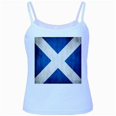 Scotland Flag Surface Texture Color Symbolism Baby Blue Spaghetti Tank by Simbadda