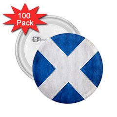 Scotland Flag Surface Texture Color Symbolism 2 25  Buttons (100 Pack)  by Simbadda