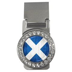 Scotland Flag Surface Texture Color Symbolism Money Clips (cz)  by Simbadda