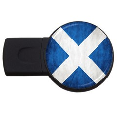 Scotland Flag Surface Texture Color Symbolism Usb Flash Drive Round (2 Gb) by Simbadda
