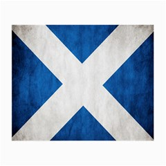 Scotland Flag Surface Texture Color Symbolism Small Glasses Cloth by Simbadda
